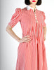 Giorgio Sant'Angelo Vintage Red & White Striped Dress - Amarcord Vintage Fashion  - 4