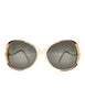 Givenchy Vintage 1970s Brown & Gold 'Panache' Sunglasses - Amarcord Vintage Fashion  - 1