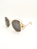 Givenchy Vintage 1970s Brown & Gold 'Panache' Sunglasses - Amarcord Vintage Fashion  - 3