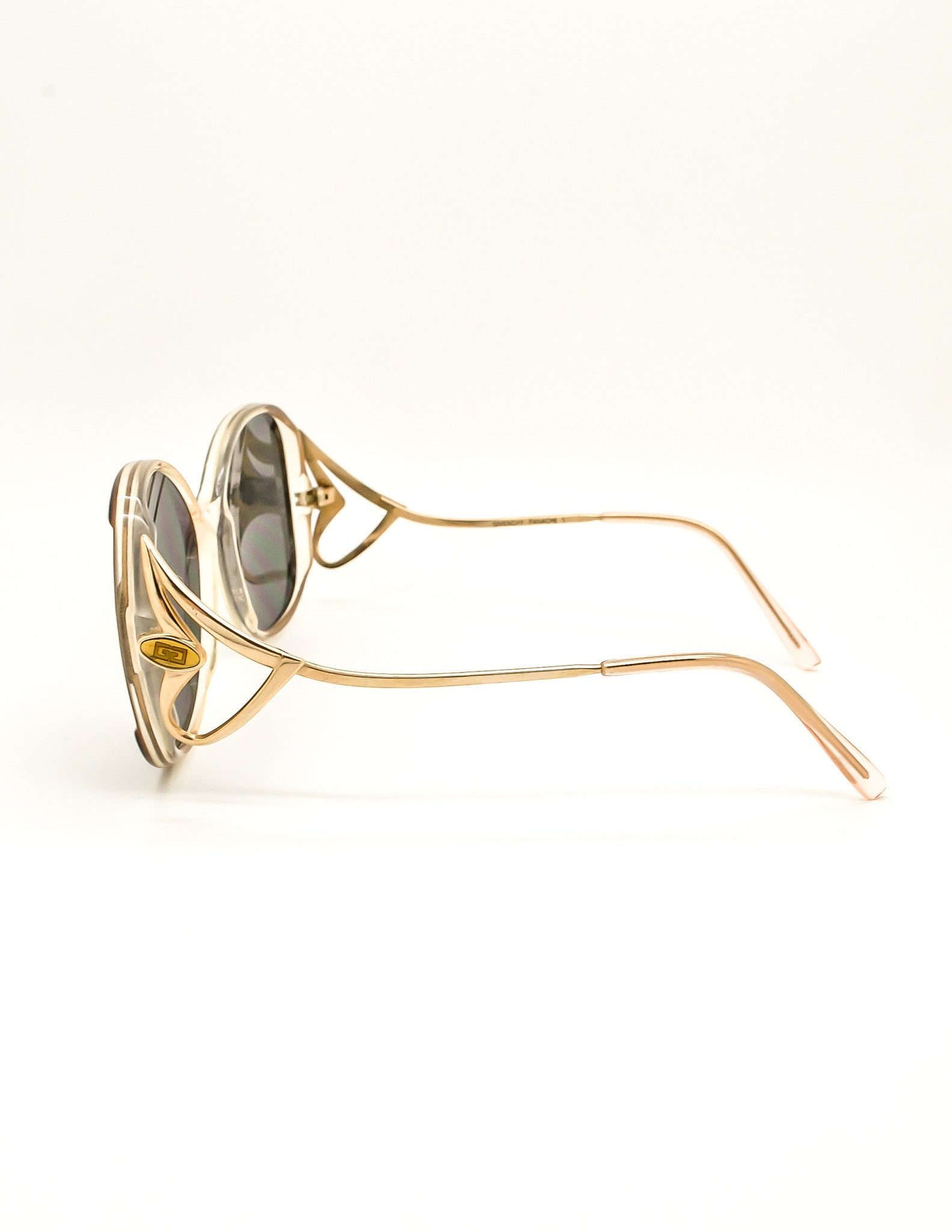 6aa469387302 Givenchy Vintage 1970s Brown & Gold 'Panache' Sunglasses - Amarcord Vintage  ...
