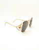 Givenchy Vintage 1970s Brown & Gold 'Panache' Sunglasses - Amarcord Vintage Fashion  - 5