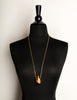 Givenchy Vintage 1977 Brown and Gold Perfume Bottle Necklace
