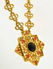 Givenchy Vintage Gold Enamel Pendant Necklace