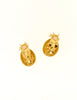 Givenchy Gold Rhinestone Pineapple Earrings - Amarcord Vintage Fashion  - 4