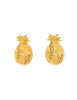Givenchy Gold Rhinestone Pineapple Earrings - Amarcord Vintage Fashion  - 1
