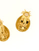 Givenchy Gold Rhinestone Pineapple Earrings - Amarcord Vintage Fashion  - 5