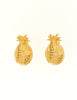 Givenchy Gold Rhinestone Pineapple Earrings - Amarcord Vintage Fashion  - 2