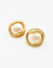 Givenchy Vintage Gold Snake Pearl Earrings - Amarcord Vintage Fashion  - 3