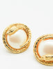 Givenchy Vintage Gold Snake Pearl Earrings - Amarcord Vintage Fashion  - 4