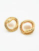 Givenchy Vintage Gold Snake Pearl Earrings - Amarcord Vintage Fashion  - 2
