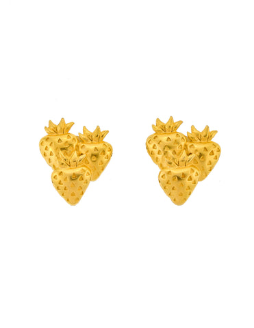 Givenchy Vintage Gold Strawberry Earrings
