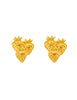 Givenchy Vintage Gold Strawberry Earrings - Amarcord Vintage Fashion  - 1