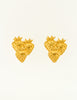 Givenchy Vintage Gold Strawberry Earrings - Amarcord Vintage Fashion  - 2