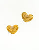 Givenchy Vintage Gold Namesake Heart Earrings - Amarcord Vintage Fashion  - 3