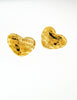 Givenchy Vintage Gold Namesake Heart Earrings - Amarcord Vintage Fashion  - 4