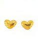 Givenchy Vintage Gold Namesake Heart Earrings - Amarcord Vintage Fashion  - 2