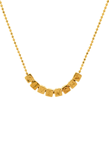 Givenchy Vintage Namesake Letter Charms Gold Necklace