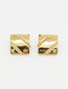 Givenchy Vintage Gold Square Logo Earrings - Amarcord Vintage Fashion  - 2