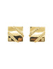 Givenchy Vintage Gold Square Logo Earrings - Amarcord Vintage Fashion  - 1