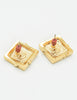 Givenchy Vintage Gold Square Logo Earrings - Amarcord Vintage Fashion  - 5
