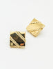 Givenchy Vintage Gold Square Logo Earrings - Amarcord Vintage Fashion  - 4
