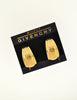 Givenchy Vintage Gold Logo Half-Hoop Earrings - Amarcord Vintage Fashion  - 4
