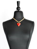 Givenchy Vintage Red Heart Necklace - Amarcord Vintage Fashion  - 3