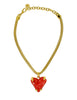 Givenchy Vintage Red Heart Necklace - Amarcord Vintage Fashion  - 1
