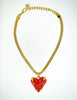 Givenchy Vintage Red Heart Necklace - Amarcord Vintage Fashion  - 5