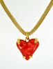 Givenchy Vintage Red Heart Necklace - Amarcord Vintage Fashion  - 2