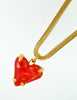 Givenchy Vintage Red Heart Necklace - Amarcord Vintage Fashion  - 4