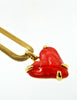 Givenchy Vintage Red Heart Necklace - Amarcord Vintage Fashion  - 6