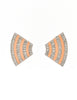Givenchy Vintage Pale Pink Enamel Silver Rhinestone Earrings - Amarcord Vintage Fashion  - 3