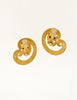 Givenchy Vintage Gold Swirl Earrings - Amarcord Vintage Fashion  - 4