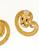 Givenchy Vintage Gold Swirl Earrings - Amarcord Vintage Fashion  - 5