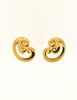 Givenchy Vintage Gold Swirl Earrings - Amarcord Vintage Fashion  - 2
