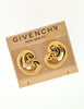 Givenchy Vintage Gold Swirl Earrings - Amarcord Vintage Fashion  - 3