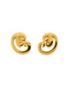 Givenchy Vintage Gold Swirl Earrings - Amarcord Vintage Fashion  - 1