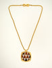 Givenchy Vintage Triangle Inlay Gold Necklace - Amarcord Vintage Fashion  - 3
