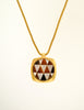 Givenchy Vintage Triangle Inlay Gold Necklace - Amarcord Vintage Fashion  - 2