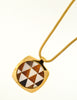 Givenchy Vintage Triangle Inlay Gold Necklace - Amarcord Vintage Fashion  - 4