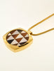 Givenchy Vintage Triangle Inlay Gold Necklace - Amarcord Vintage Fashion  - 5