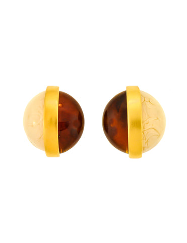 Givenchy Vintage Two Tone Gold Earrings