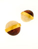 Givenchy Vintage Two Tone Gold Earrings - Amarcord Vintage Fashion  - 4