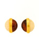 Givenchy Vintage Two Tone Gold Earrings - Amarcord Vintage Fashion  - 2