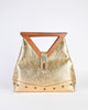 Excel Vintage Gold Lame Geometric Handbag - Amarcord Vintage Fashion  - 2