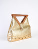 Excel Vintage Gold Lame Geometric Handbag - Amarcord Vintage Fashion  - 3
