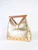 Excel Vintage Gold Lame Geometric Handbag - Amarcord Vintage Fashion  - 5