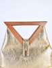Excel Vintage Gold Lame Geometric Handbag - Amarcord Vintage Fashion  - 4