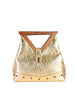 Excel Vintage Gold Lame Geometric Handbag - Amarcord Vintage Fashion  - 1